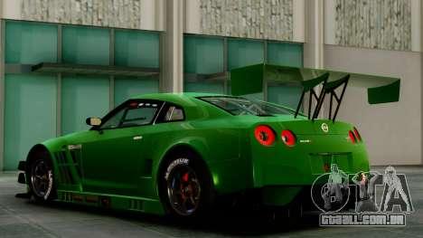 Nissan GT-R (R35) GT3 2012 PJ1 para GTA San Andreas traseira esquerda vista