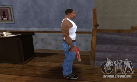 Black and Red Deagle para GTA San Andreas terceira tela