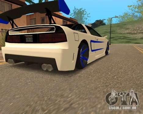 Infernus Pele para GTA San Andreas esquerda vista