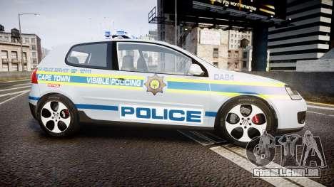 Volkswagen Golf South African Police [ELS] para GTA 4 esquerda vista