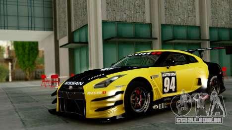 Nissan GT-R (R35) GT3 2012 PJ1 para GTA San Andreas vista traseira