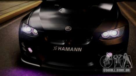 BMW M3 E92 Hamman para GTA San Andreas vista superior