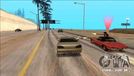 COP Plus para GTA San Andreas por diante tela