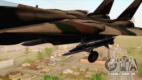 Grumman F-14A IRIAF para GTA San Andreas vista direita