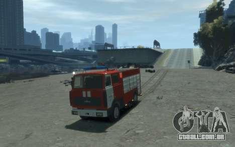 MAZ 533702 Fogo Lipetsk para GTA 4 traseira esquerda vista