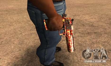 Red Splash Deagle para GTA San Andreas