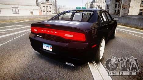 Dodge Charger LC Police Stealth [ELS] para GTA 4 traseira esquerda vista