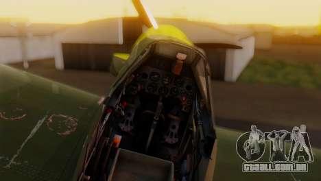 Messerschmitt Bf-109 E3 para GTA San Andreas vista direita