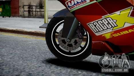 Bike Bati 2 HD Skin 1 para GTA 4 traseira esquerda vista