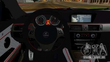 BMW M3 E92 Hamman para GTA San Andreas vista traseira