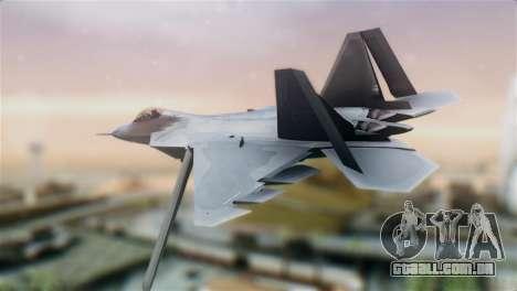F-22 Raptor para GTA San Andreas esquerda vista
