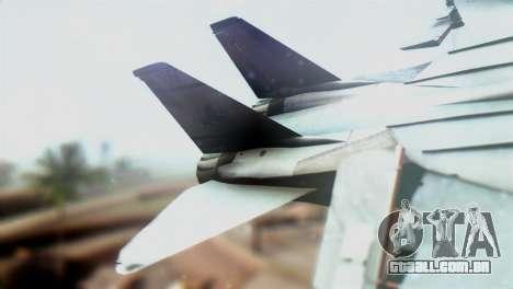 F-14D VF-2 Bounty Hunters para GTA San Andreas traseira esquerda vista