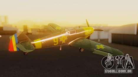 Messerschmitt Bf-109 E3 para GTA San Andreas esquerda vista