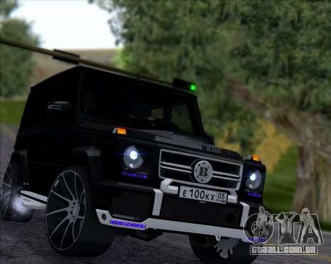 Brabus B65 Angry para GTA San Andreas esquerda vista