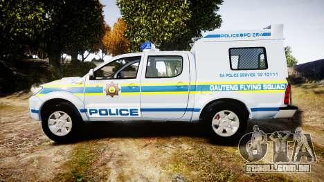 Toyota Hilux 2010 South African Police [ELS] para GTA 4 esquerda vista