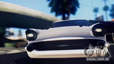 Chevrolet Bel Air 1957 FF Style para GTA San Andreas traseira esquerda vista