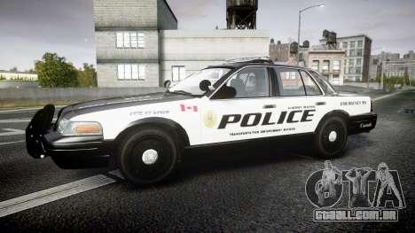 Ford Crown Victoria Alderney Police para GTA 4 esquerda vista