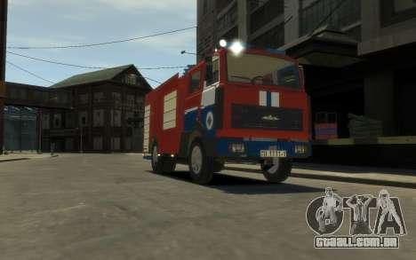 MAZ 533702 o Ministério das situações de emergên para GTA 4 esquerda vista