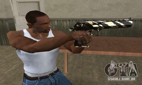 Gold Lines Deagle para GTA San Andreas segunda tela