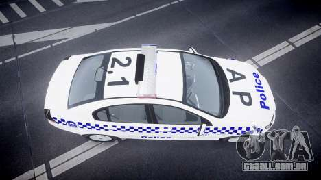Holden Commodore Omega NSWPF [ELS] para GTA 4 vista direita