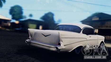 Chevrolet Bel Air 1957 FF Style para GTA San Andreas esquerda vista