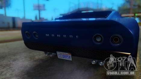 GTA 5 Pegassi Monroe IVF para GTA San Andreas vista traseira