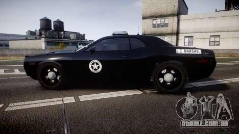 Dodge Challenger Marshal Police [ELS] para GTA 4 esquerda vista