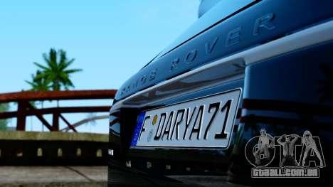 Range Rover Vogue Lumma Stratech para GTA San Andreas vista direita