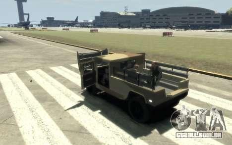 GTA 5 Millitary Patriot para GTA 4 vista interior