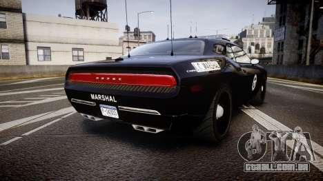 Dodge Challenger Marshal Police [ELS] para GTA 4 traseira esquerda vista