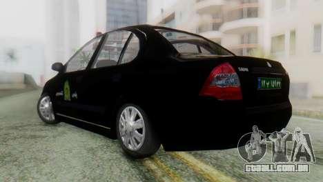 SAIPA Tiba Police v1 para GTA San Andreas esquerda vista