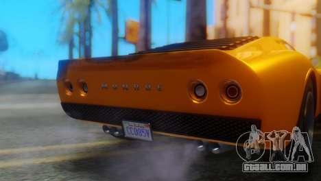 GTA 5 Pegassi Monroe para GTA San Andreas vista traseira