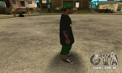 Groove St. Nigga Skin The Third para GTA San Andreas por diante tela