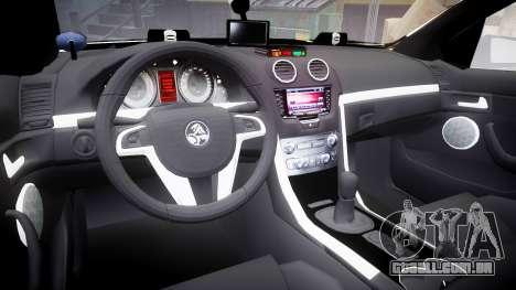 Holden VE Commodore SS Police HWP [ELS] para GTA 4 vista de volta
