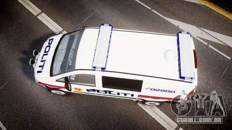 Mercedes-Benz Vito 2014 Norwegian Police [ELS] para GTA 4 vista direita