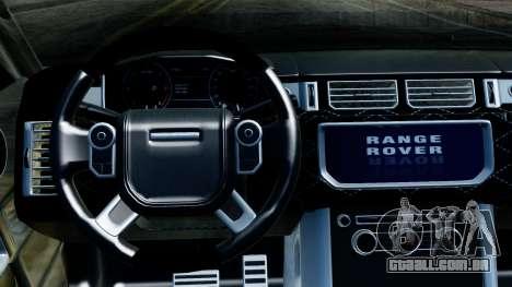 Range Rover Vogue Lumma Stratech para GTA San Andreas vista traseira