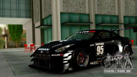 Nissan GT-R (R35) GT3 2012 PJ1 para GTA San Andreas vista interior