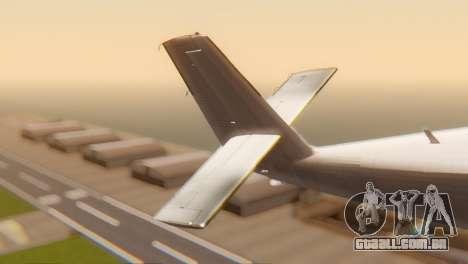 DHC-6-300 Twin Otter para GTA San Andreas traseira esquerda vista