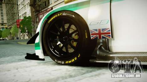Bentley Continental GT3 2014 para GTA 4 traseira esquerda vista