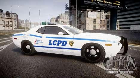 Dodge Challenger LCPD [ELS] para GTA 4 esquerda vista
