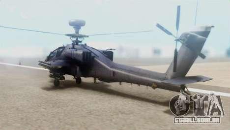 AH-64D Apache Longbow para GTA San Andreas esquerda vista