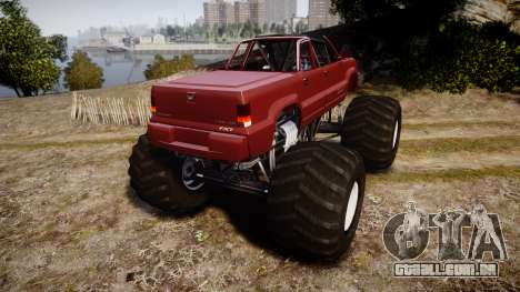 Albany Cavalcade FXT Cabrio Monster Truck para GTA 4 traseira esquerda vista