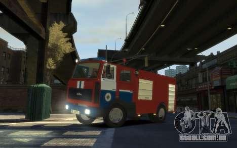 MAZ 533702 o Ministério das situações de emergên para GTA 4