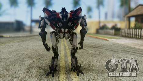 Starscream Skin from Transformers v1 para GTA San Andreas segunda tela