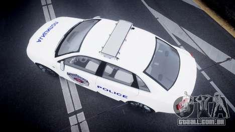 Audi S4 Serbian Police [ELS] para GTA 4 vista direita
