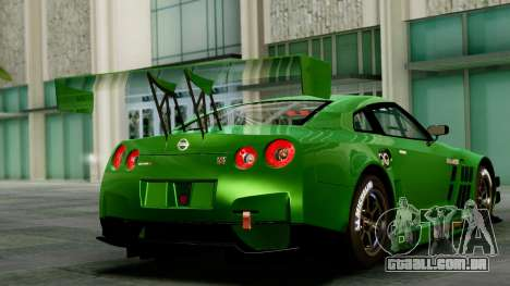 Nissan GT-R (R35) GT3 2012 PJ1 para GTA San Andreas esquerda vista