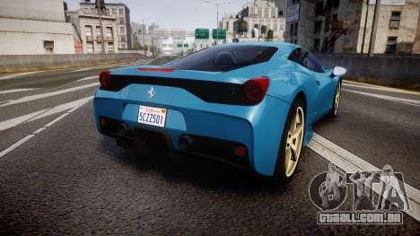 Ferrari 458 Speciale 2014 para GTA 4 traseira esquerda vista