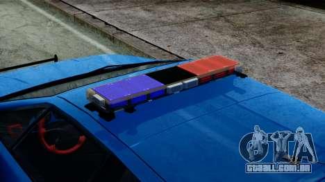 Lotus Esprit S4 V8 1998 Police Edition para GTA San Andreas traseira esquerda vista