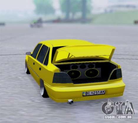 Daewoo Nexia 2006 para GTA San Andreas traseira esquerda vista