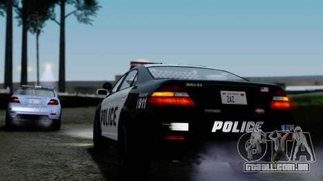 GTA 5 Vapid Police Interceptor v2 IVF para GTA San Andreas vista inferior